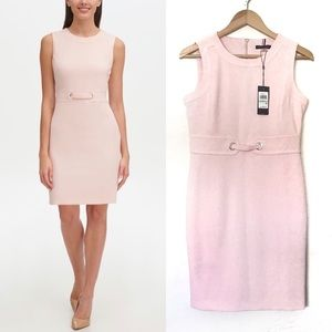 Tommy Hilfiger Grommet-Trim Sheath Dress Pink 8P